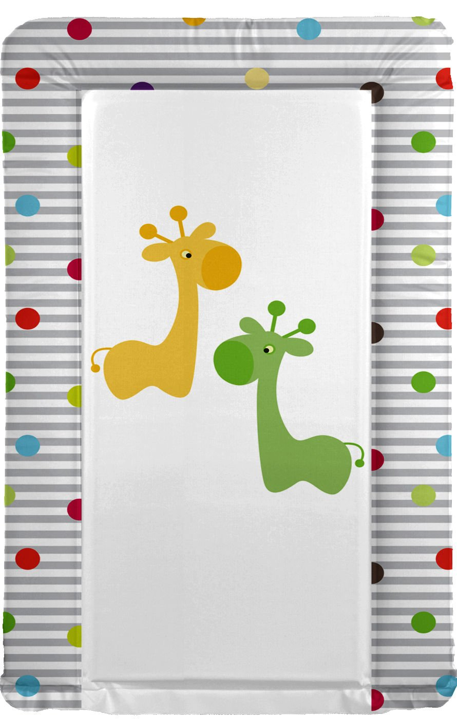 Baby Changing Mat Giraffe Friends Green Orange