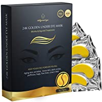 BrightJungle Under Eye Collagen Patch, 24K Gold Anti-Aging Mask, Pads for Puffy...