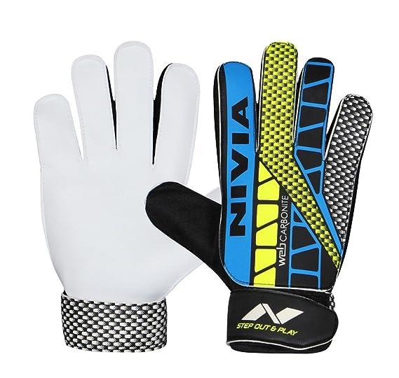 Nivia Carbonite Web Goalkeeper Gloves Football Goalkeeper Gloves at amazon