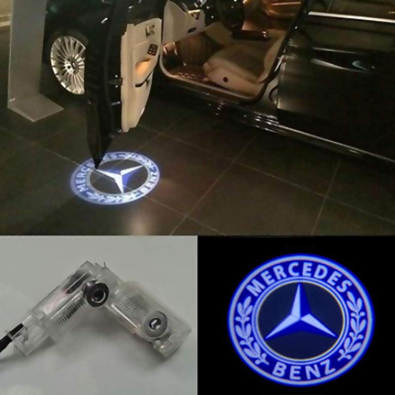 W204-BENZ logo ZHANGNA 2 Piezas Car Puerta Logo Proyector Bienvenido Ghost Sombra Luz Iluminaci/ón