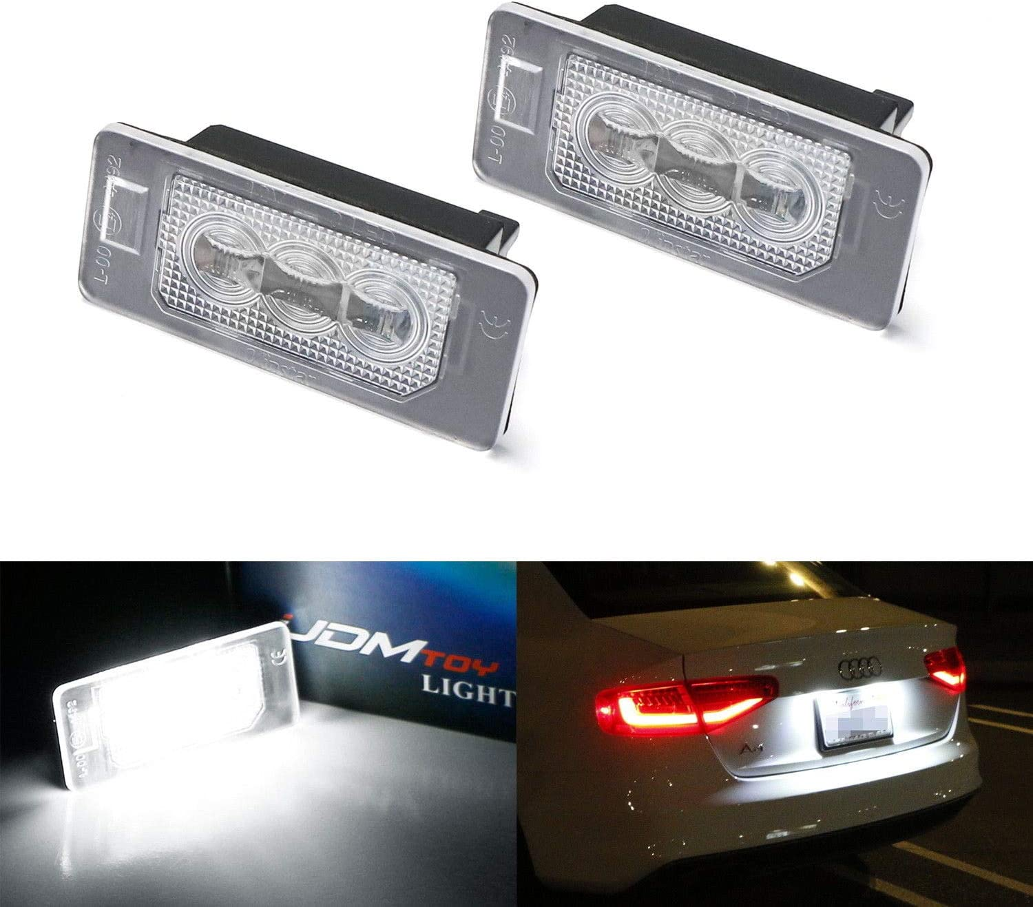 2ps LED Part Side Light Beam Parking 15-SMD Bulbs Error Free Canbus For A4 S4 B5