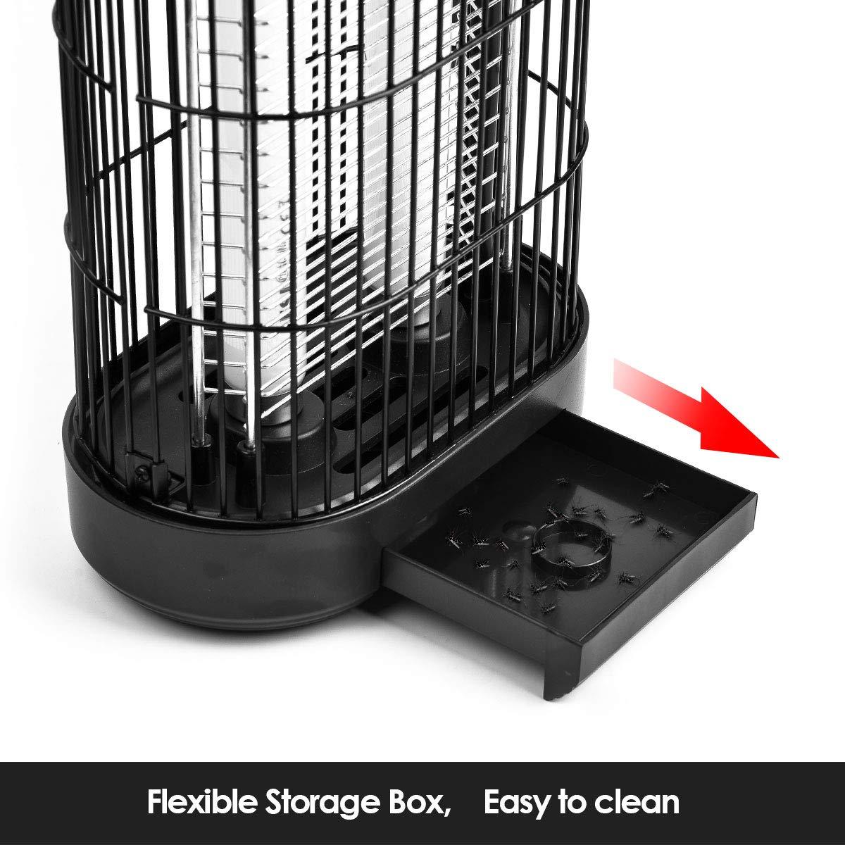 JOLVVN Elektrischer Insektenvernichter hygienische Fliegenvernichtung mit Aufbewahrungsbox und Kleiner B/ürste gegen Fliegende Insekten geeignet f/ür K/üchen und Restaurants 20W