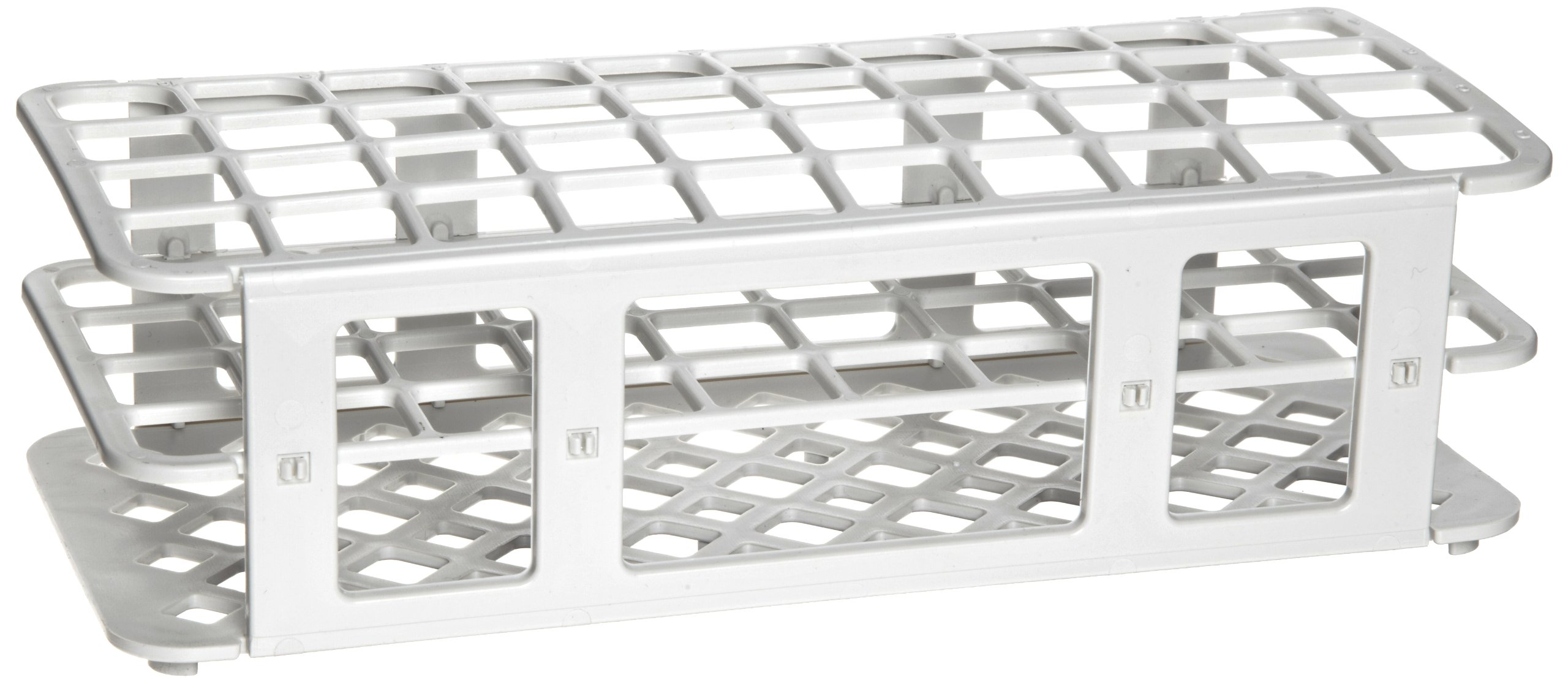 Heathrow Scientific HEA243071W Fold and Snap Rack for 21mm Tubes, White