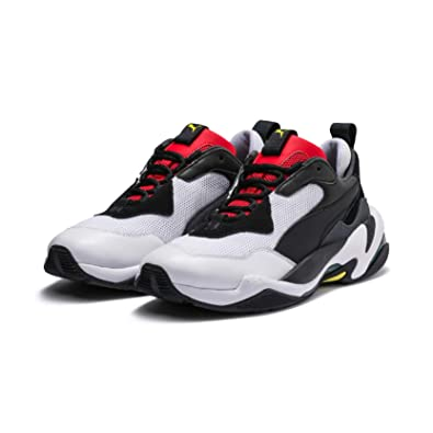 518c12cffb6f PUMA Unisex s Thunder Spectra Black-High Risk Red Sneakers-9 (4060978810540)