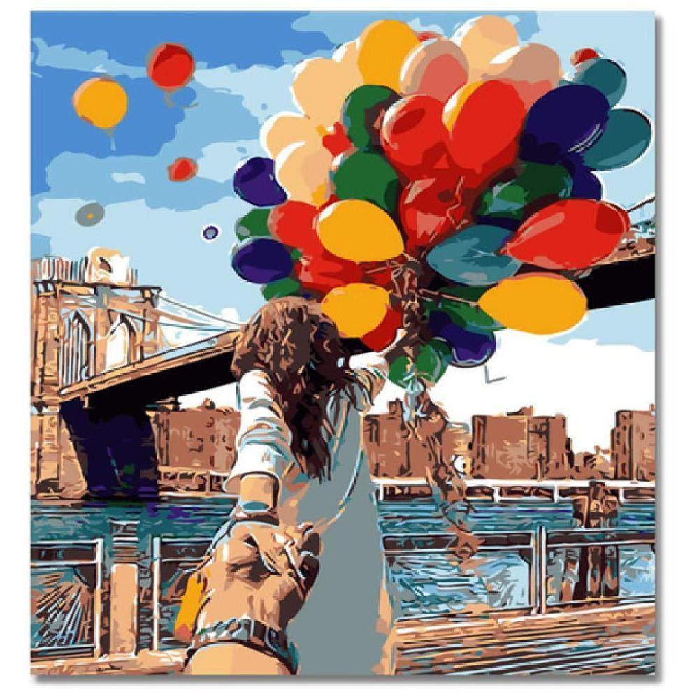 80x100cm  jjyyh Peintures par Numéros Amoureux Tenant par La Main 80X100Cm Bricolage Peinture à l'huile Linen Toile pour Adultes Enfants Débutants Numéros Peinture par Décoration Murale