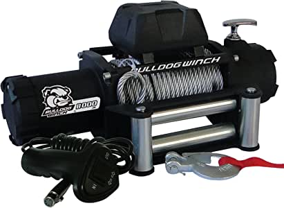 Bulldog Winch 10041 Standard Winch (8000lbwith 5.2hp Series Wound Motor, Roller Fairlead, 100 Ft. Wire Rope), 1 Pack