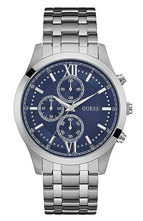 329246173152 Guess Hommes Chronographe Quartz Montre Bracelet en Acier Inoxydable W0875G1