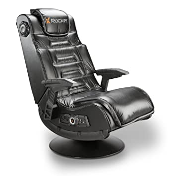Amazon.com: SILLON MULTIMEDIA INALAMBRICO X ROCKER PRO, con PEDESTAL ...