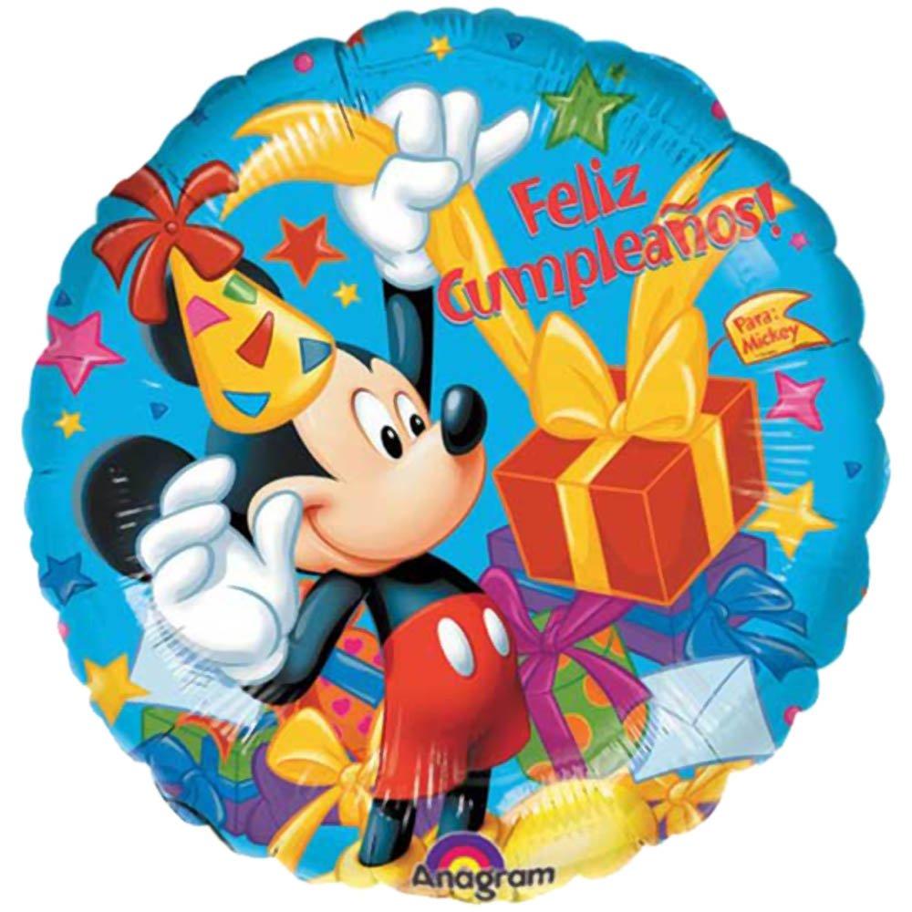 PARTYRama Feliz Cumpleanos Mickey Mouse Globo Redondo de ...