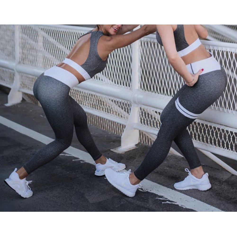 kunfang Abbigliamento Sportivo da Donna 2 Pezzi//Set Tuta /— Alta Elasticit/à Reggiseno Sportivo Leggings Pantaloni Tute Fitness per Lo Yoga in Esecuzione E Altre attivit/à Tuta