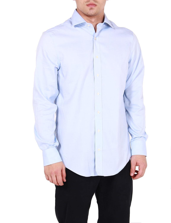 GANT - Camisa formal - para hombre Capri Blue 468 Large: Amazon.es ...