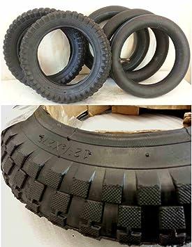 Neumáticos, 31,75 x 6,98 cm - 2 neumáticos + 3 cámaras de aire para mini moto de cross: Amazon.es: Coche y moto