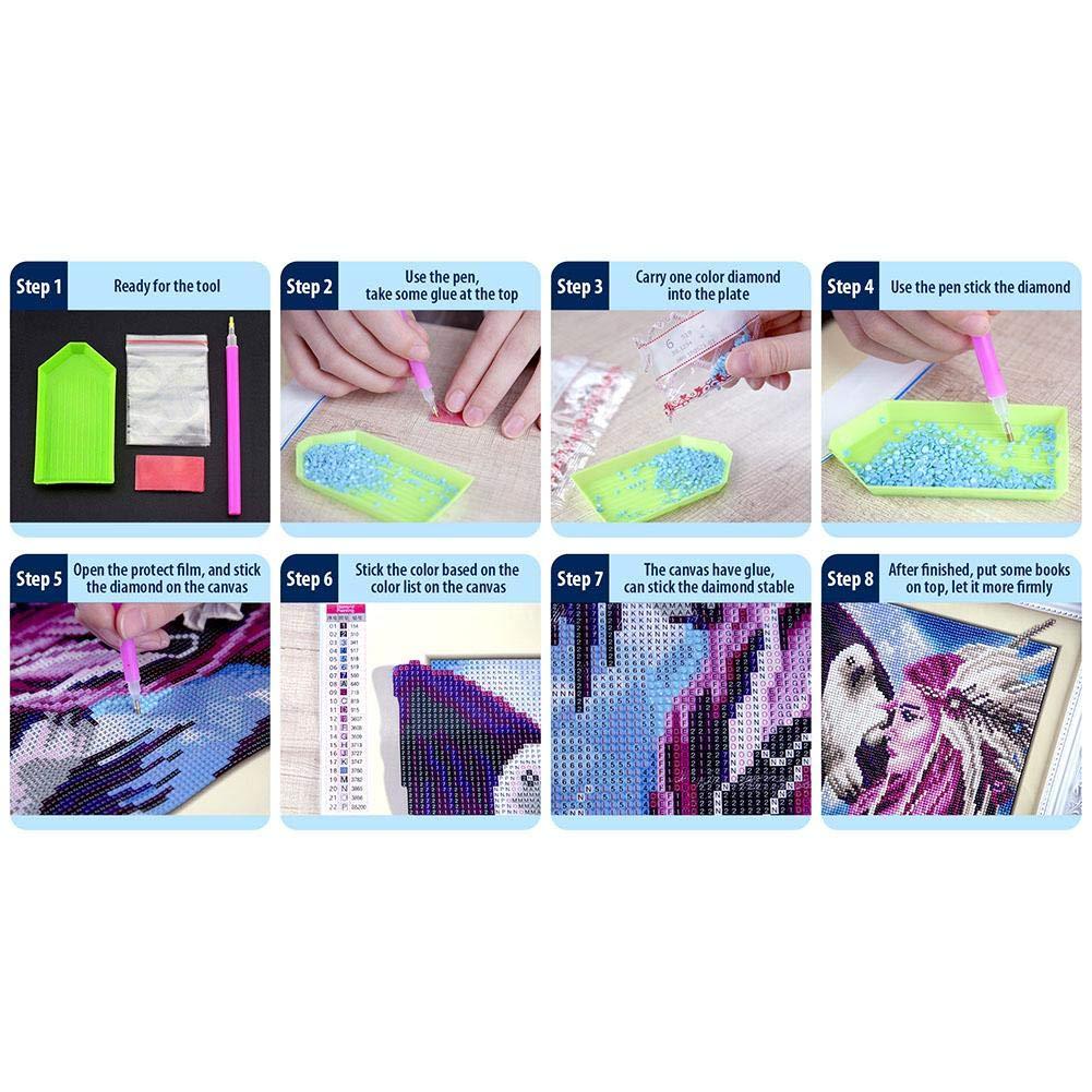 Wohnzimmer oder Schlafzimmer 95 x 45 cm K/üsschen Broadroot 5D Full Drill Diamond Painting Kit 5-Pictures Kreuzstich-Stickerei DIY Stich f/ür Dekoration zu Hause