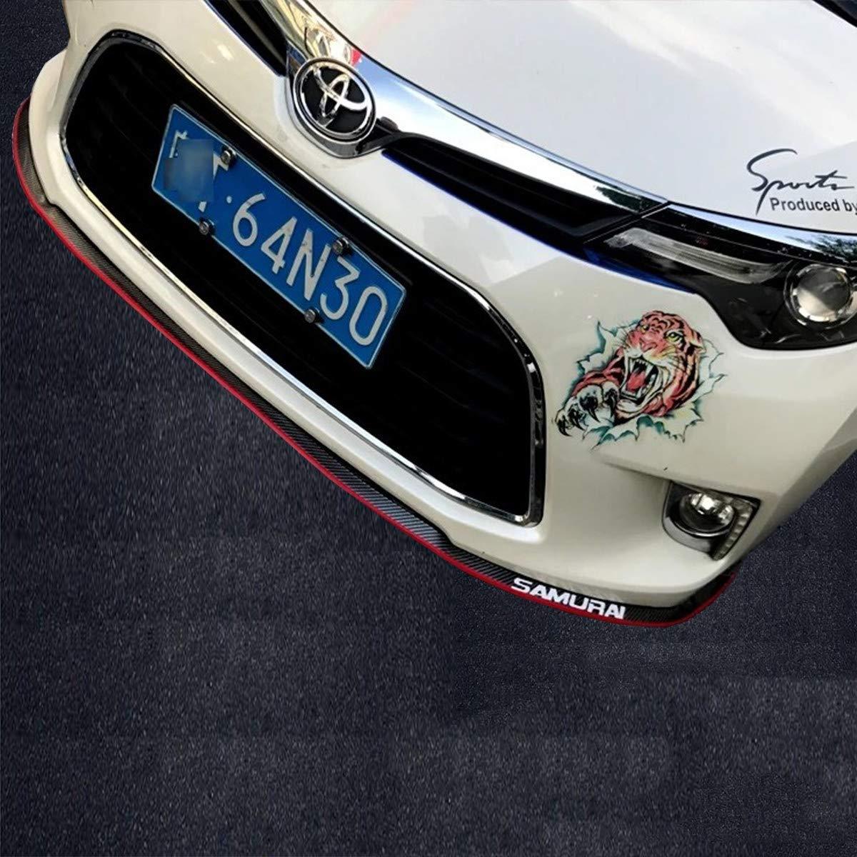 8.2ft, Black HengJia Auto Parts Automotive Universal Lip Kit Front Bumper Spoiler Lip,Splitter Side Skirt Roof Spoiler,100/% Waterproof Protection