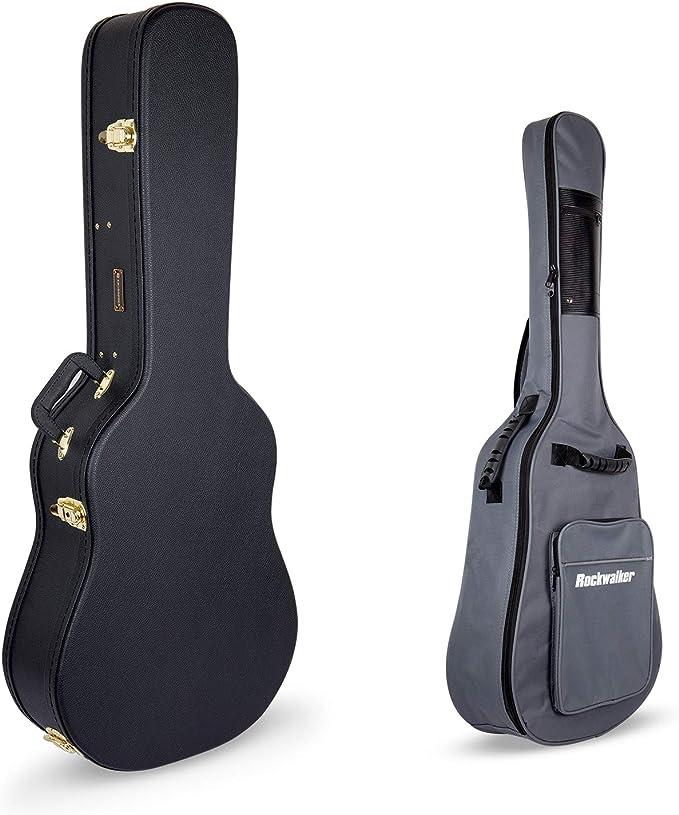 Crossrock CRW500DBK - Caja rígida de madera para guitarras ...