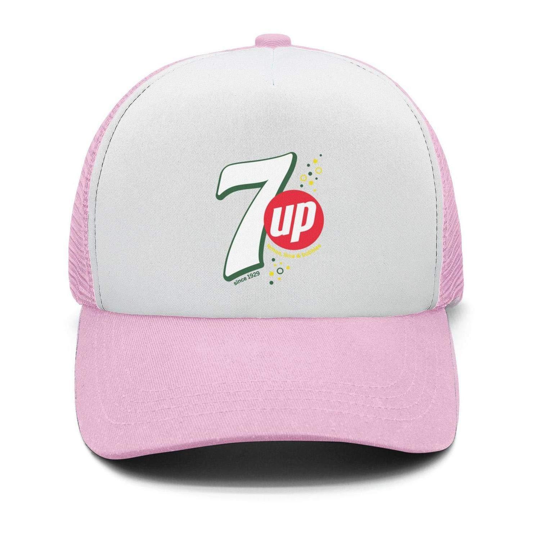 Univeins Mens Designer Snapback Hat 7-UP-Logo Adjustable Visor Cap
