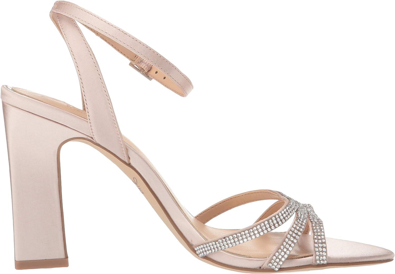 Jewel Badgley Mischka Womens Sparkle Heeled Sandal