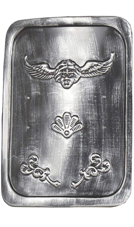 Grand BOUCLIER Romain rectangle, noir patiné