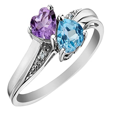 264d1b48f Buy Kiara Valentine Sterling Silver Ring Made with Swarovski Zirconia  VAR004 Online at Low Prices in India | Amazon Jewellery Store - Amazon.in