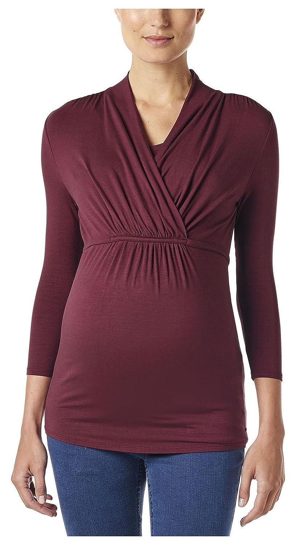 ESPRIT Maternity Damen Umstands Langarmshirt mit Stillfunktion, Einfarbig