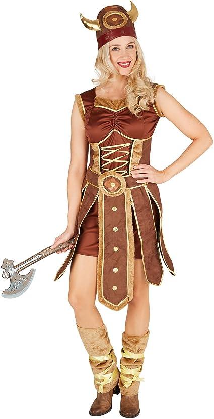 TecTake dressforfun Disfraz para Mujer Vikinga | Vestido con ...