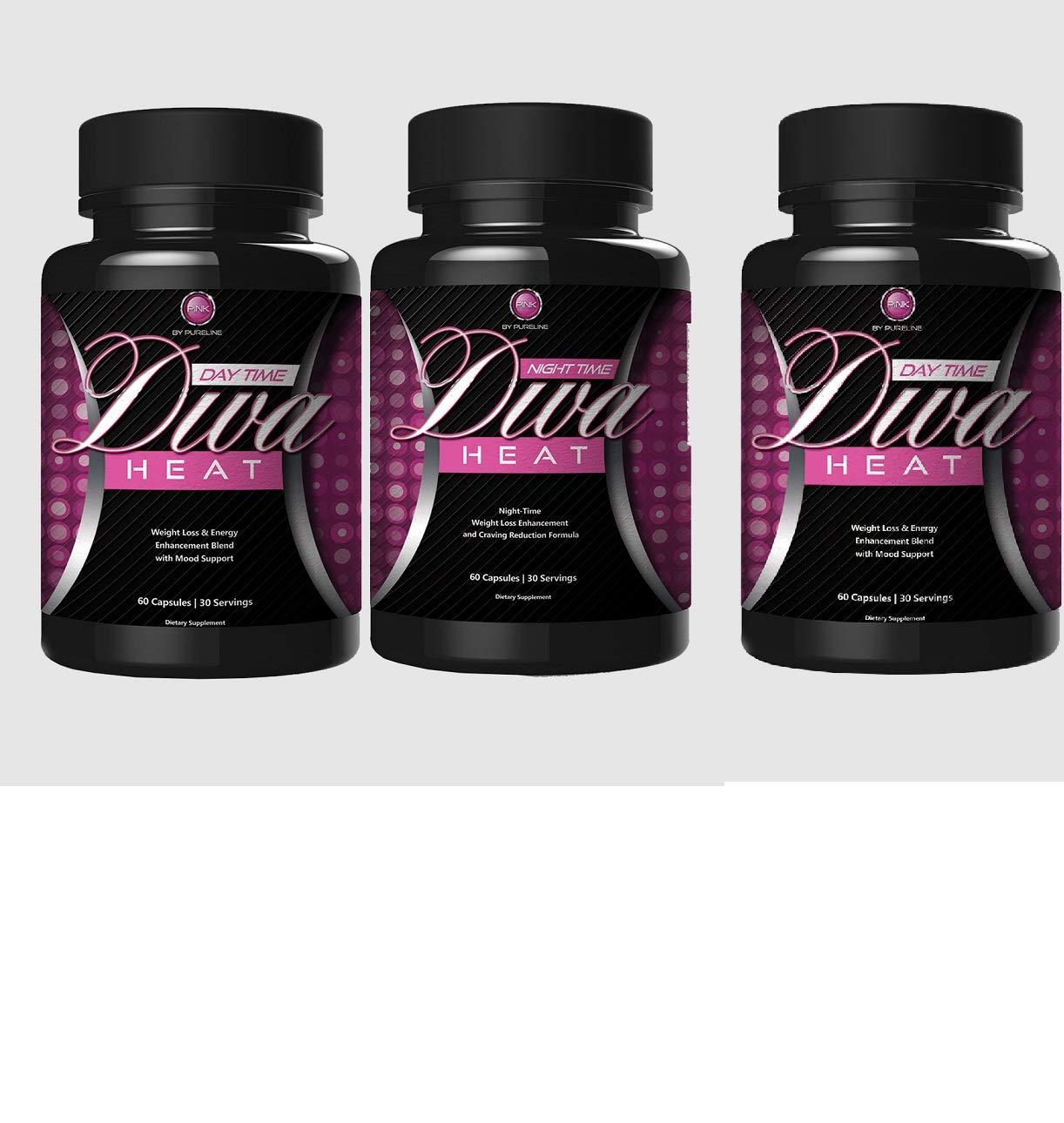 Pureline Nutrition Diva Heat Night Time 60 Capsules(Pack of 3)