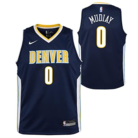 2cb32c5a4 Image Unavailable. Image not available for. Color  Outerstuff Emanuel  Mudiay Denver Nuggets NBA Nike Youth Navy Blue Icon Swingman Jersey