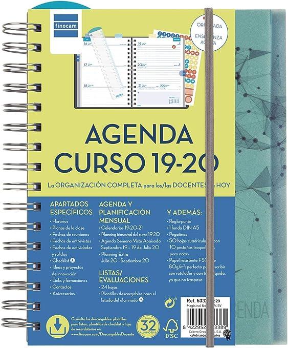 Agenda docente 2019-2020 semana vista apaisada español: Amazon.es ...