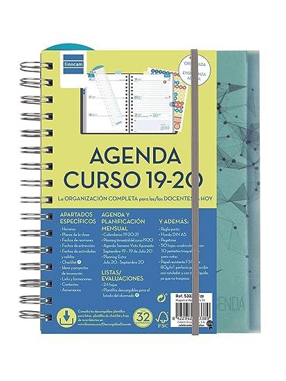 Agenda docente 2019-2020 semana vista apaisada español
