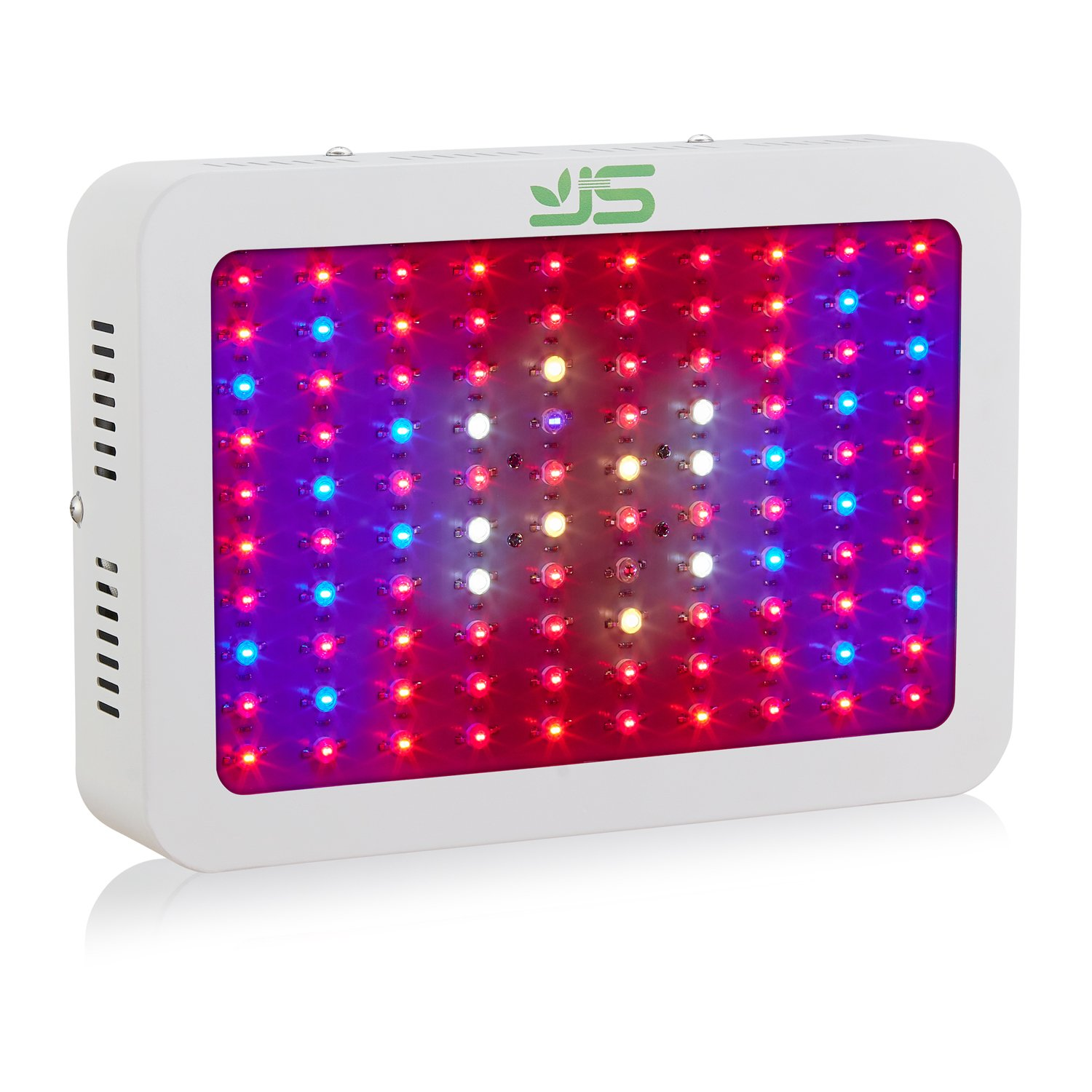 JS LED Grow Light, 1000Watt Double Chips Full Spectrum Plant Lamp with Red Blue UV IR Light for Indoor Grow Box Greenhouse Plant Vegetable Flower Growth(UK Plug) JS Ltd