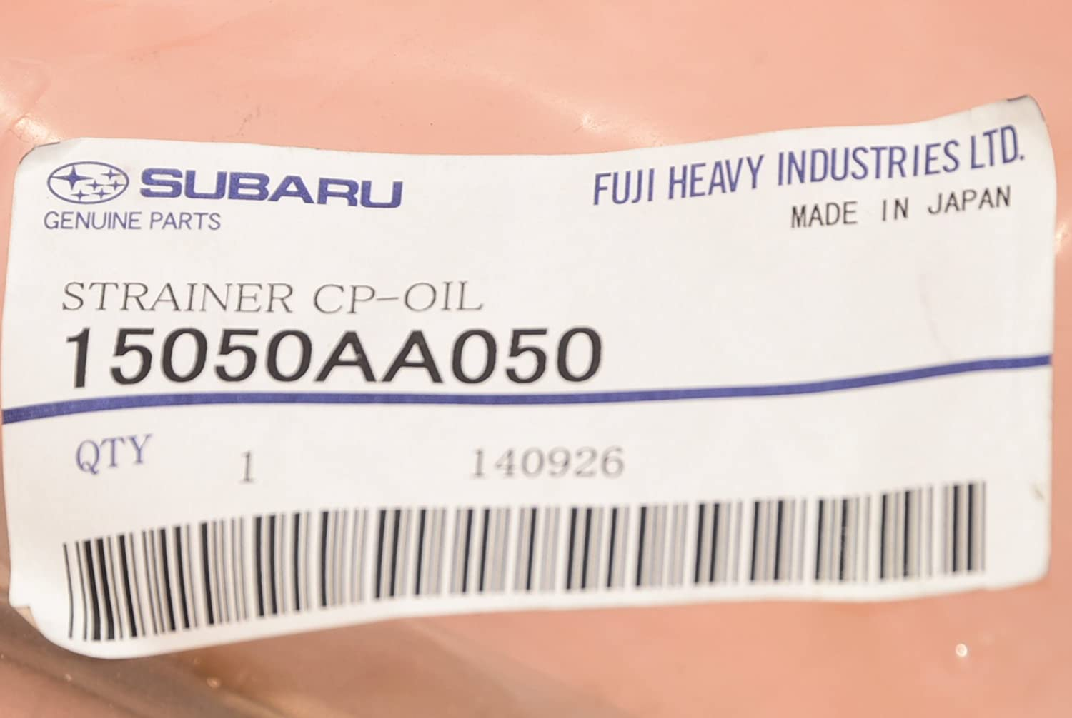 Subaru 15050AA050 Oil Pick-Up Tube