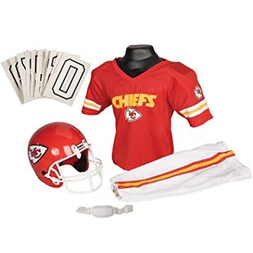 30871974277 Franklin Sports NFL Kansas City Chiefs Deluxe Youth Uniform Set, Small