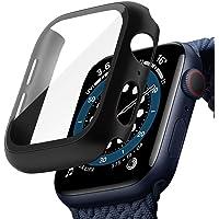 TOPACE Svart hård Apple Watch serie 6 / SE / serie 5/serie 4 fodral med skärmskydd i härdat glas 44 mm, 360° allround…