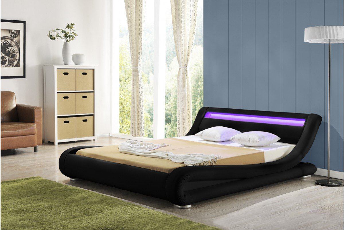 DreamWarehouse Madrid Schwarz LED (König) Bett Rahmen: Amazon.de ...