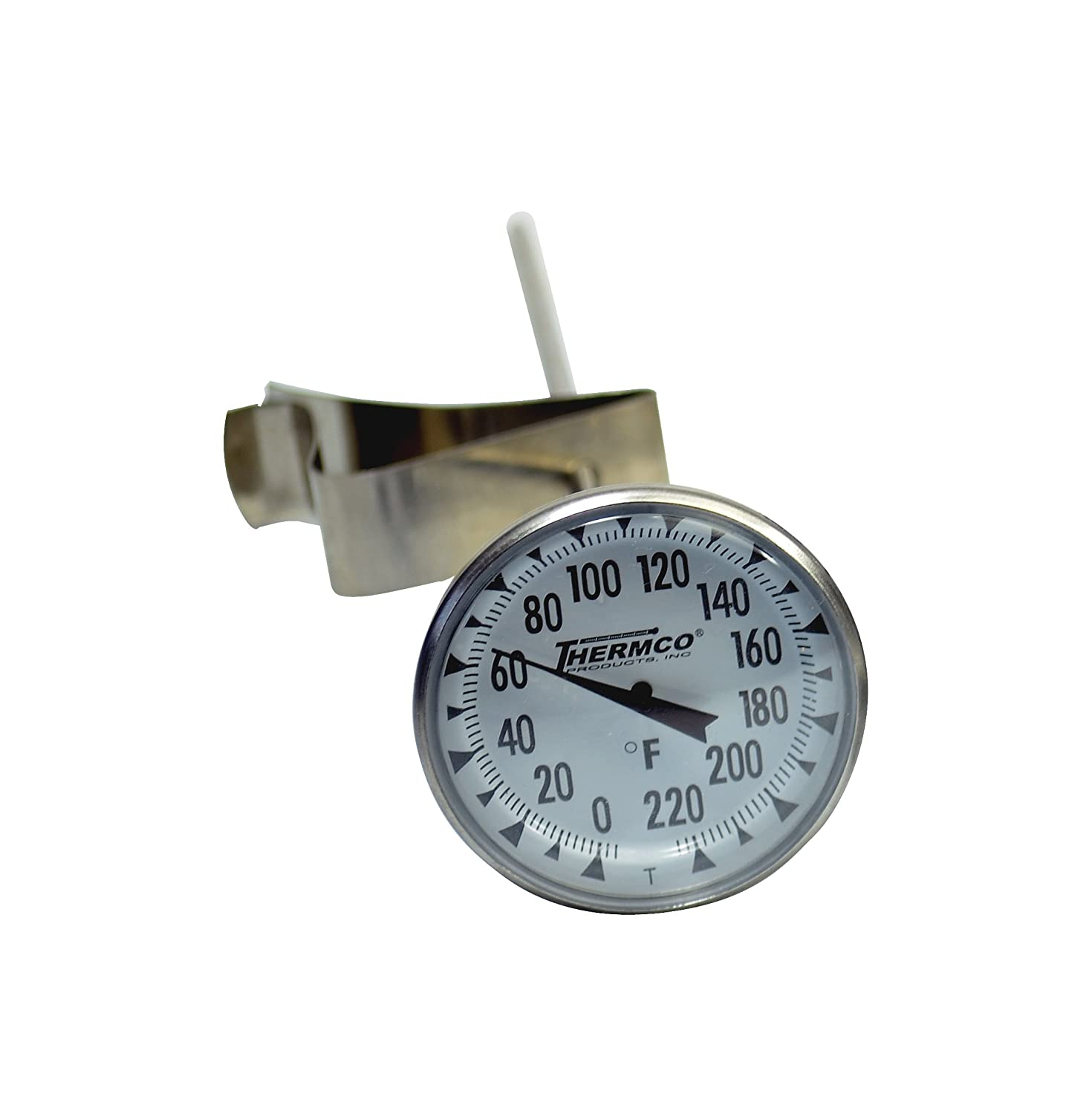 1-3//4 Dial Size 2 Immersion 1-3//4 Dial Size 8 Stem with No Cover 2 Immersion Thermco Products Inc. 8 Stem with No Cover Thermco ACC2GG220F Bi-Metal Dial Laboratory Thermometer 0 to 220/°F Range