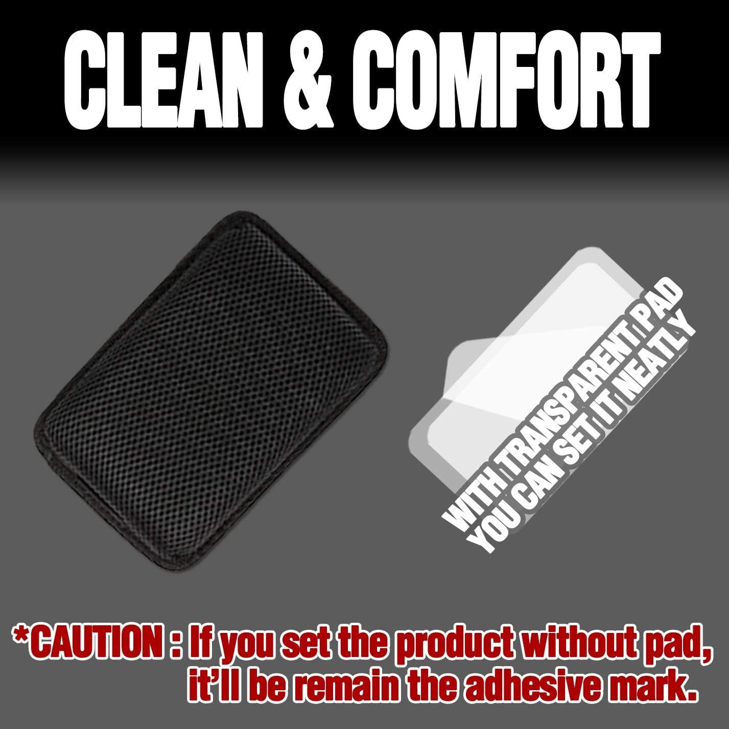 Mesh Black Normal KMMOTORS Multi Cushion with Non-Slip Pad for Make Comfortable Driving Environment