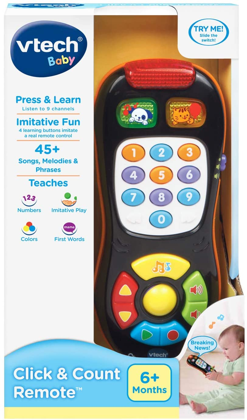 Colorful Buttons Toys Click Count Remote Control Sound Activity Kids Baby Fun