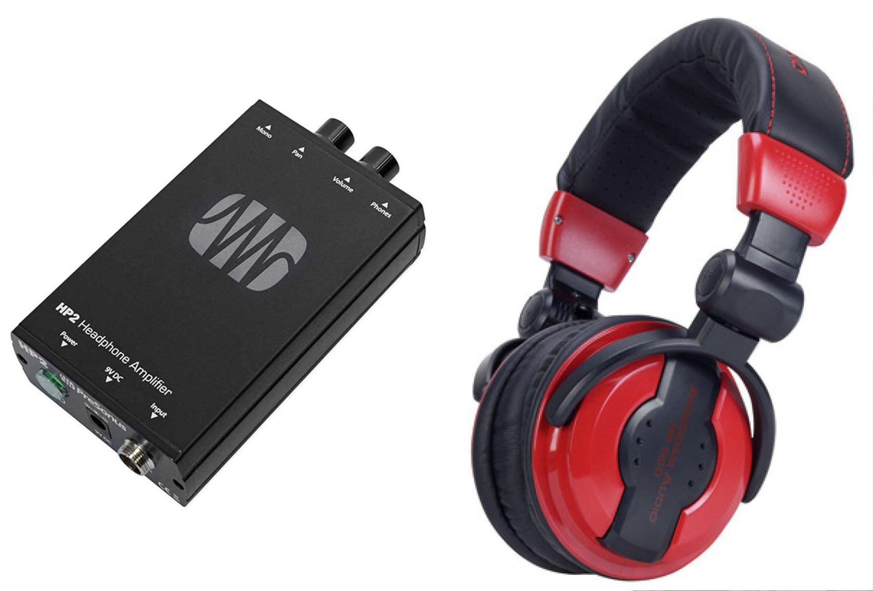 Presonus HP2 2 Channel Headphone Amplifier System HP-2+Free Samson Headphones