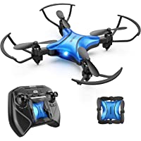 DROCON DC65 Foldable Mini Drone for Kids, Beginner RC Quadcopter with Altitude Hold/3D Flips/Self-Rotating/Headless Mode/One-Key Take-Off & Landing/One-Key Return/Speed Adjustment (Blue)