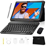 Tablet 10 inch, Android 9.0 GO Edition Tablets with Wireless Keyboard Case and Mouse, 3GB RAM 32GB ROM, Quad Core…