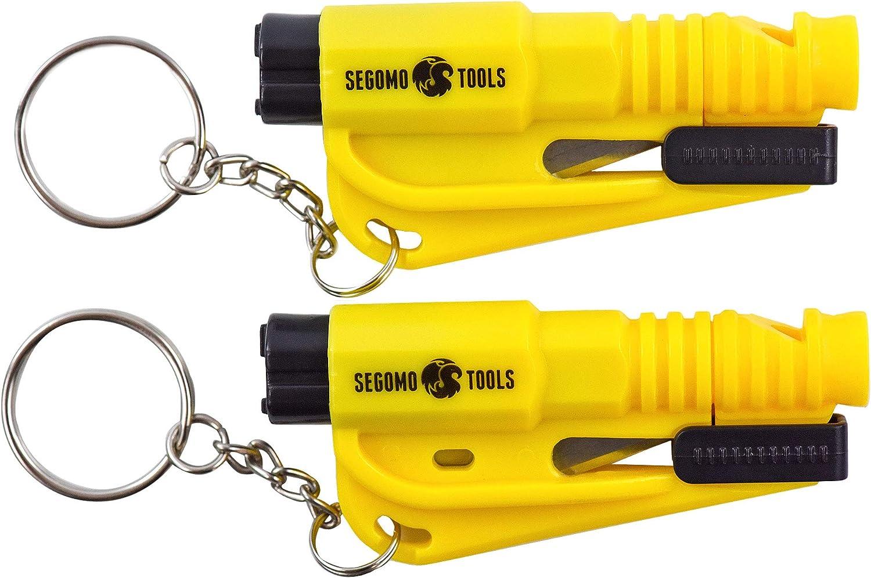 Segomo Tools 2 Keychain Emergency Car Escape Tool