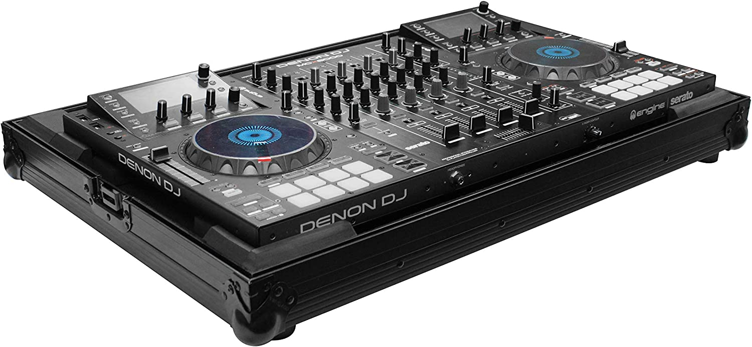 Odyssey Cases FZDNMCX8000BL Black Label DJ Controller Case for Denon MCX8000