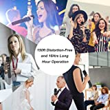 Wireless Microphone System, Phenyx Pro VHF Cordless Mic Set With 1 Handheld+1 Headset+1 Lapel+1 Bodypack, Stable Signal, Long Range, Best for Presentation, Interview, Church, Wedding,Events