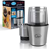 Quest 34170 Benross Compact Stainless Steel Electric Wet and Dry One Touch Grinder, 80 g, 200 W