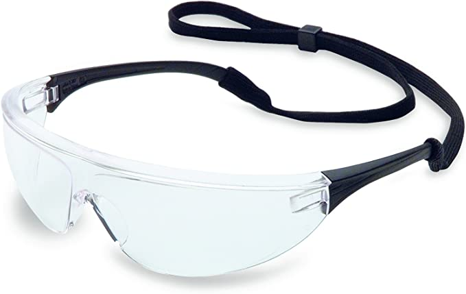 HONEYWELL UVEX 11150915 Vapor II Safety Glasses With Black Frame And Clear