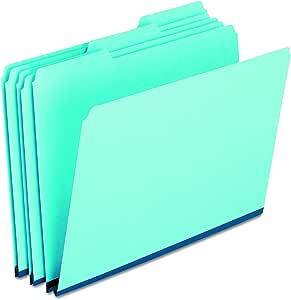Pendaflex 9300T13 Pressboard Expanding File Folders, 1/3 Cut Top Tab, Legal, Blue (Box of 25) (9300T 1/3)
