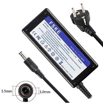 FSKE 60W 19V 3.16A Cargador Adaptador para Samsung NP300E5A NP350V5C R39 R410 R540 R20 R530