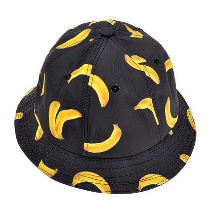 297a5d0366a ZLYC Unisex Cute Fruit Banana Bucket Hat Summer Fisherman Cap