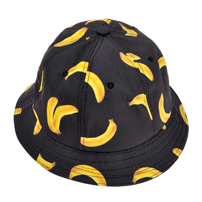 907e12aadf3 ZLYC Unisex Cute Fruit Banana Bucket Hat Summer Fisherman Cap