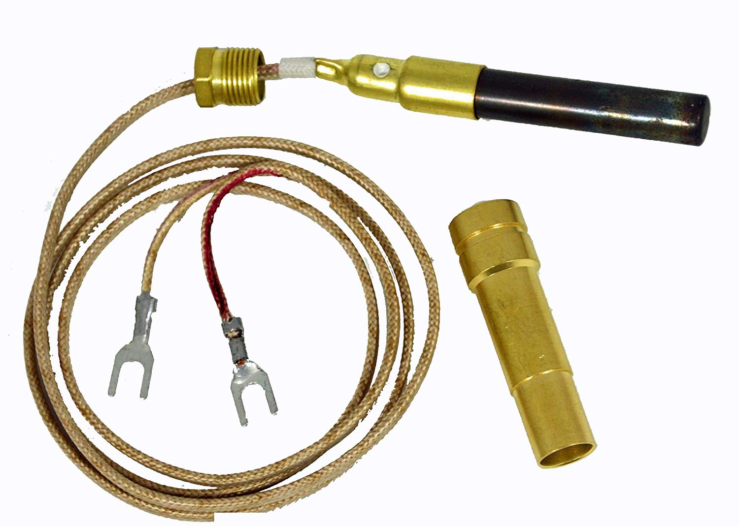 36'' Fireplace Thermopile for SIT 820 Valve Nova Gas Logs 250 - 750 Millivolt by FIXITSHOP
